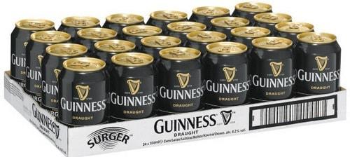 Упаковка пива Guinness