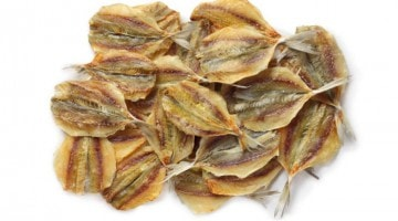 Жёлтый полосатик солено-сушеный