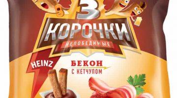 3 корочки бекон+кетчуп