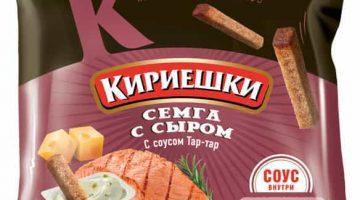 Кириешки семга сыр+соус тар-тар