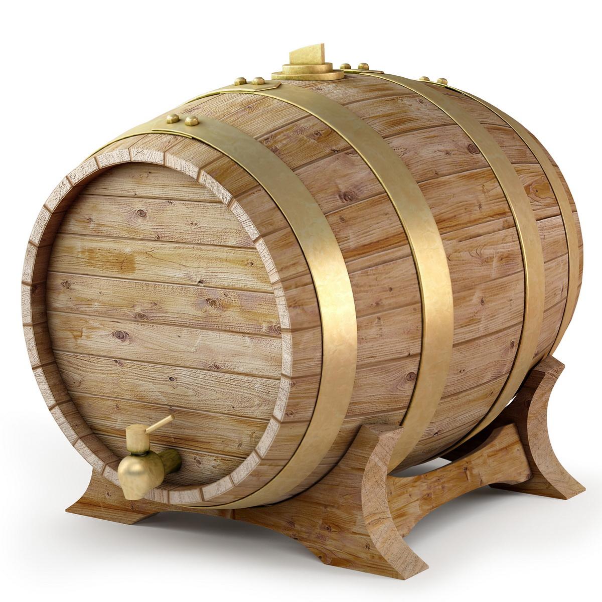 Деревянная пивная выпуклая бочка