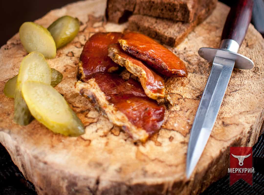Бастурма из свинины сыровяленая, фас. 0,100 гр, 0,5 кг, 1 кг