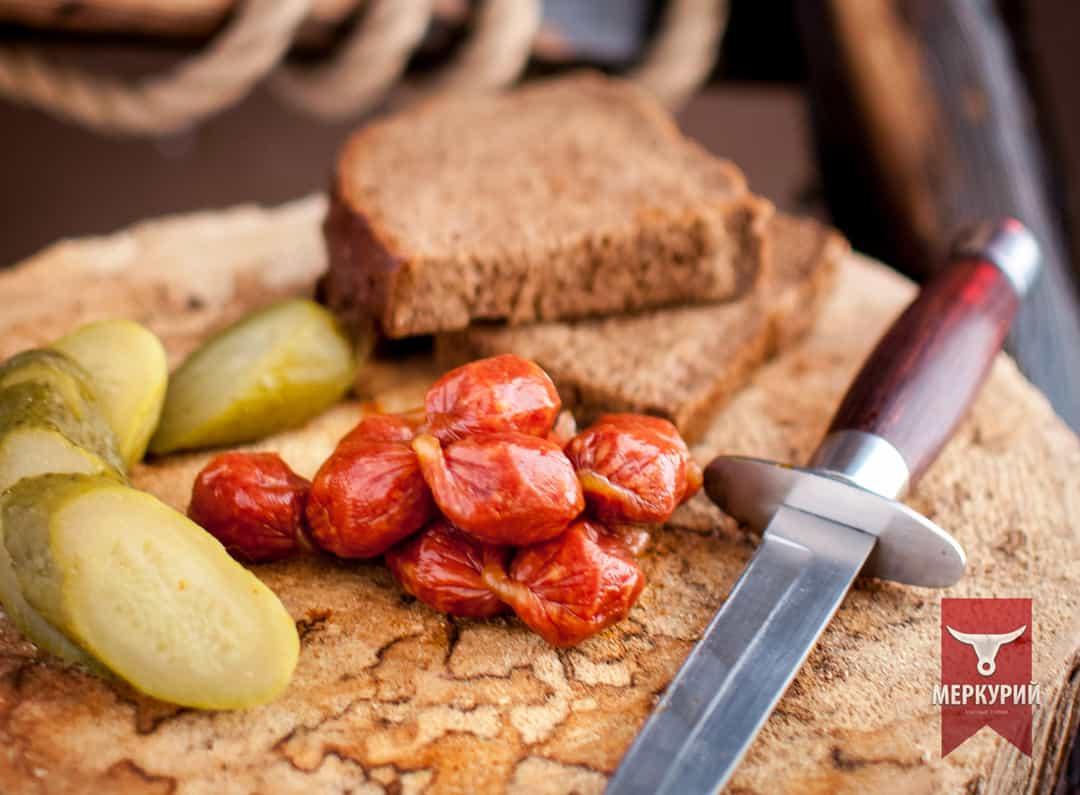 Колбаски Пивчики сырокопченые, фас. 0,100 гр, 0,5 кг, 1 кг
