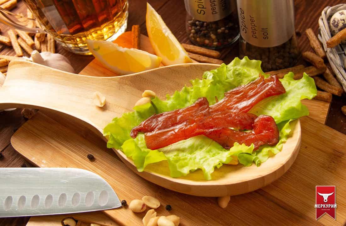Палочки из мяса птицы сырокопченые в/у 0,5 кг