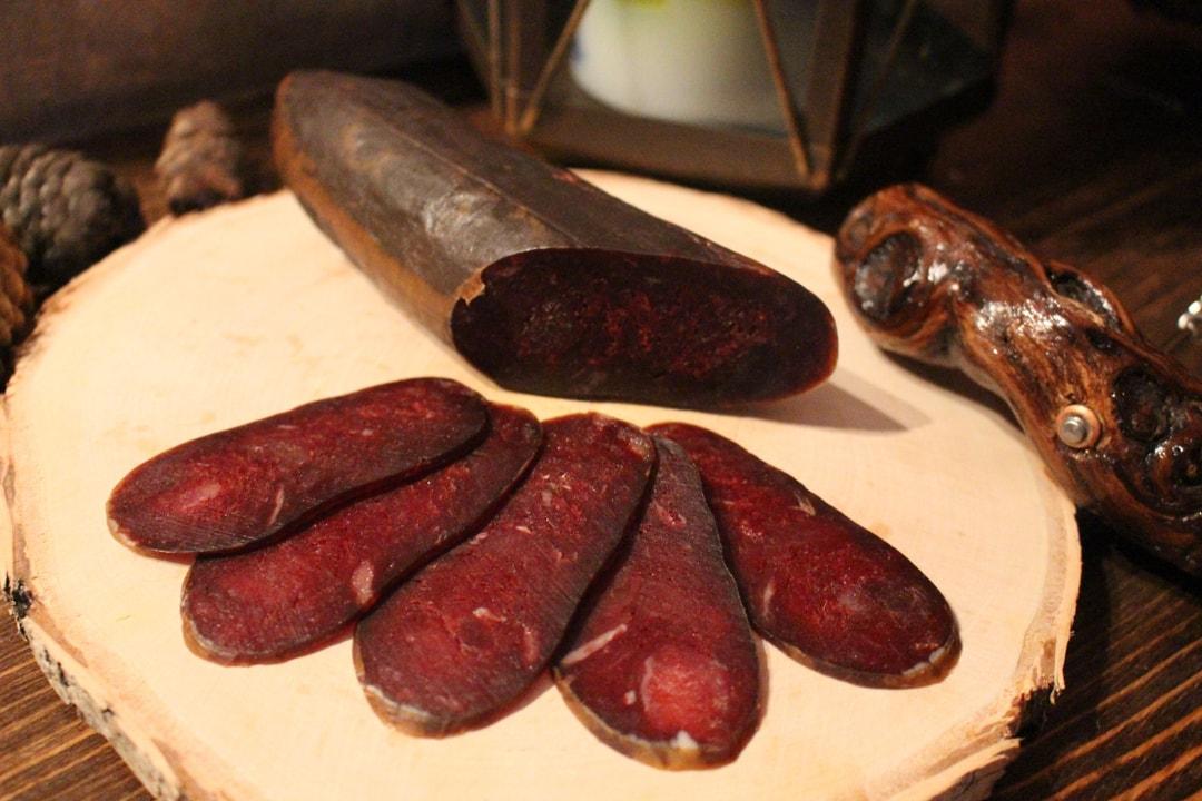 Конина Махан мясная сыровяленая нарезка ву 0,040 гр