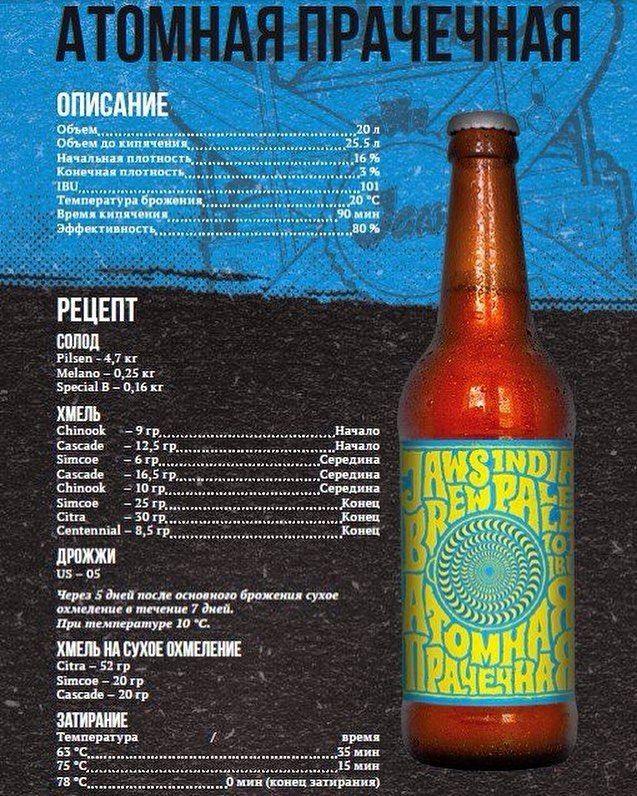 Рецепт пива Атомная Прачечная