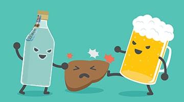 что вреднее пиво или водка для печени
