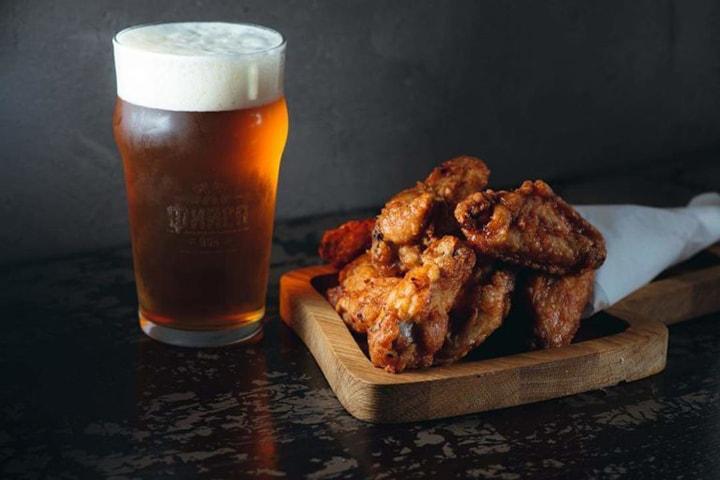 Куриные крылышки с пивом