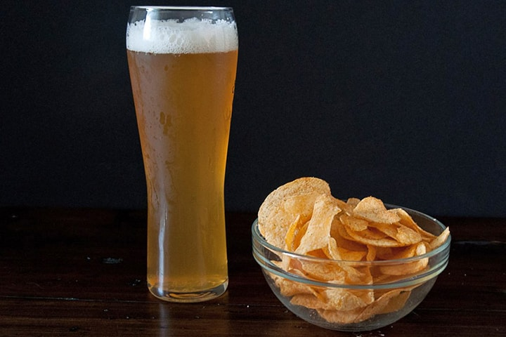 Пиво с чипсами
