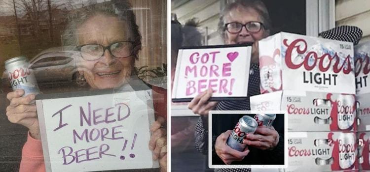 93 летняя пенсионерка попросила пиво