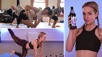 Bier-Yoga становится всё более популярной в России