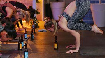 сложная поза в пивной йоге